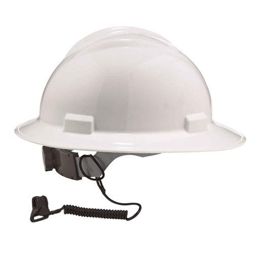 Coil Hard Hat Lanyard with Clamp (014840)