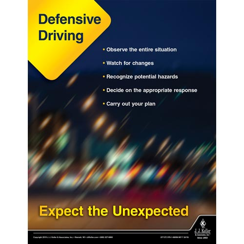 Defensive Driving Expect the Unexpected - Driver Awareness Safety Poster (015612)