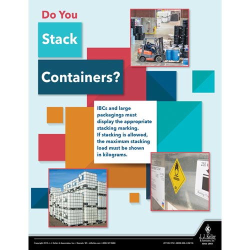 Do You Stack Containers - Hazmat Transportation Poster (015614)