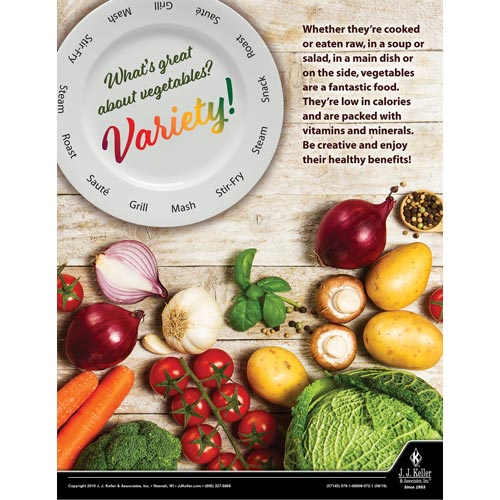 What's Great About Vegetables - Health & Wellness Awareness Poster (015617)