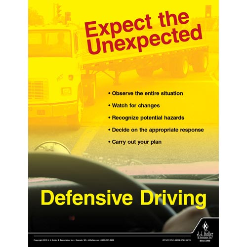Expect the Unexpected - Defensive Driving - Transportation Safety Poster (015619)