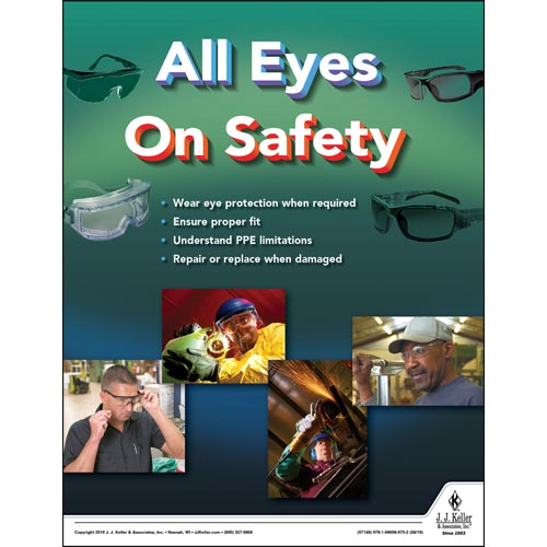All Eyes On Safety - Workplace Safety Training Poster (015620)