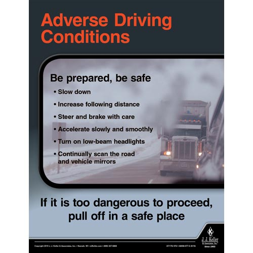 Adverse Driving Conditions - Driver Awareness Safety Poster (015621)