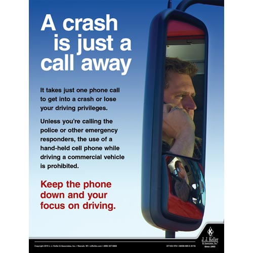 Keep The Phone Down and Your Focus On Driving - Motor Carrier Safety Poster (015626)