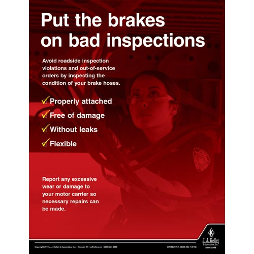 Put The Brakes On Bad Inspections - Transport Safety Risk Poster (015628)