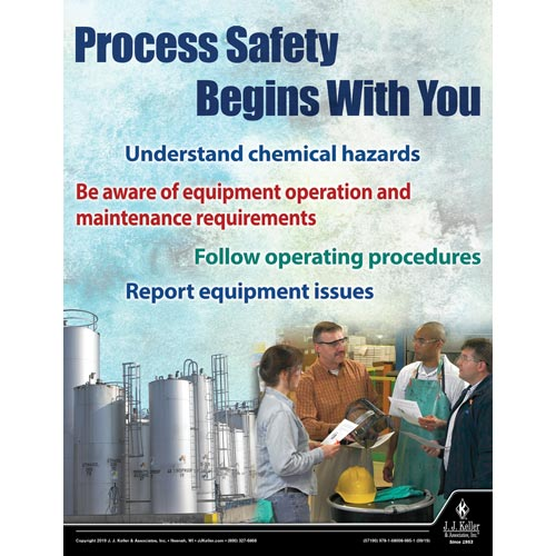 Process Safety Begins With You - Workplace Safety Training Poster (015630)