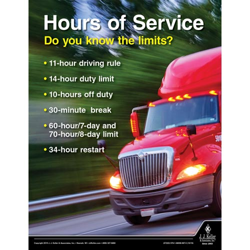 Hours of Service Do You Know the Limits - Driver Awareness Safety Poster (015631)