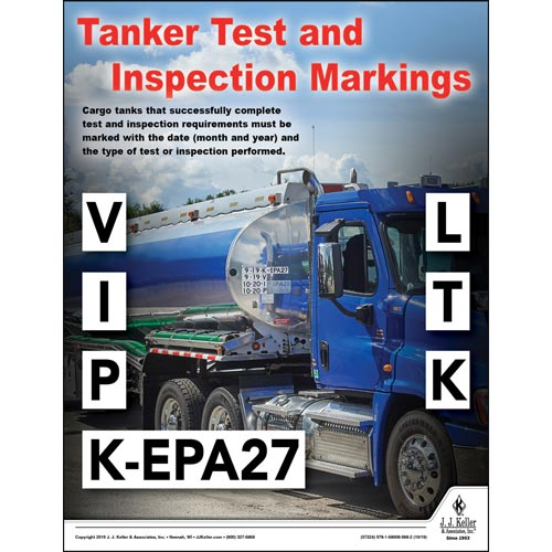 Tanker Test and Inspection Markings - Hazmat Transportation Poster (015634)