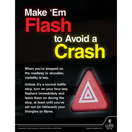 Make 'Em Flash to Avoid a Crash - Motor Carrier Safety Poster (015636)