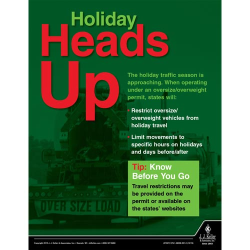 Heads Up: Oversize Loads - Motor Carrier Safety Poster (015632)
