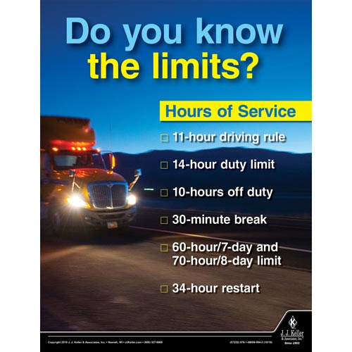 Hours of Service - Transportation Safety Poster (015639)