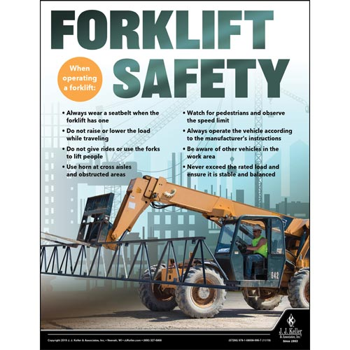 Forklift Safety - Construction Safety Poster (015643)
