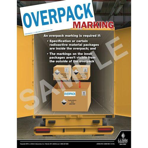 Overpack Marking - Hazmat Transportation Poster (015644)
