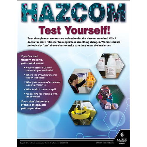 Hazcom Test Yourself - Workplace Safety Training Poster (015645)