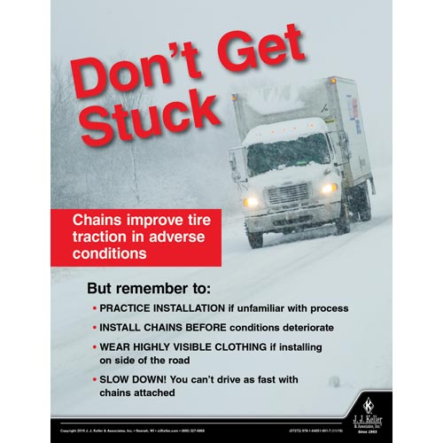 Don't Get Stuck - Motor Carrier Safety Poster (015642)