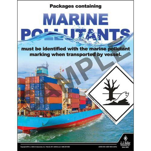 Packages Containing Marine Pollutants - Hazmat Transportation Poster (015654)