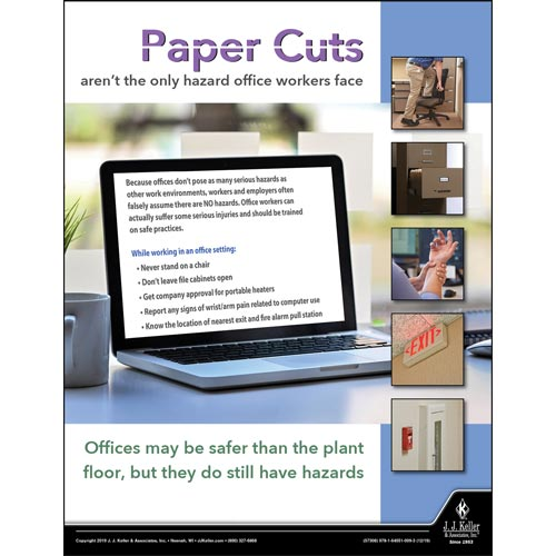 Paper Cuts - Workplace Safety Training Poster (015655)