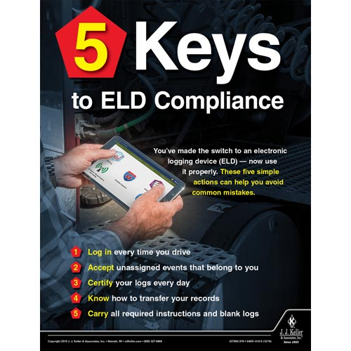 5 Keys to ELD Compliance - Motor Carrier Safety Poster (015656)
