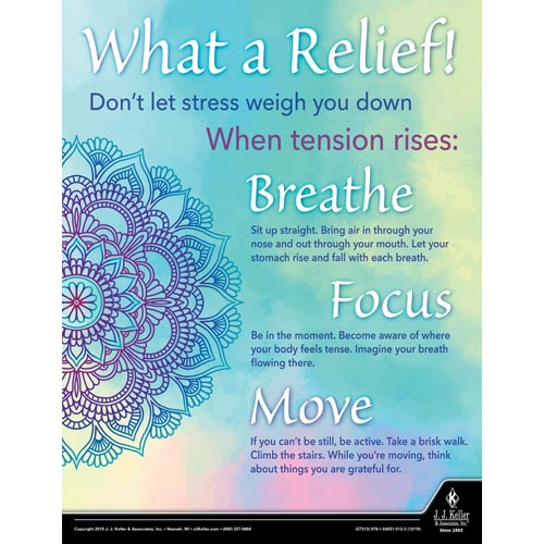 What a Relief! Don't Let Stress Weigh You Down - Health & Wellness Awareness Poster (015657)