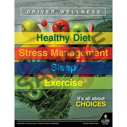 Driver Wellness - Transportation Safety Poster (015659)