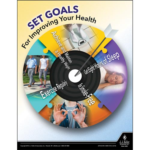 Set Goals For Improving Your Health - Workplace Safety Training Poster (015660)