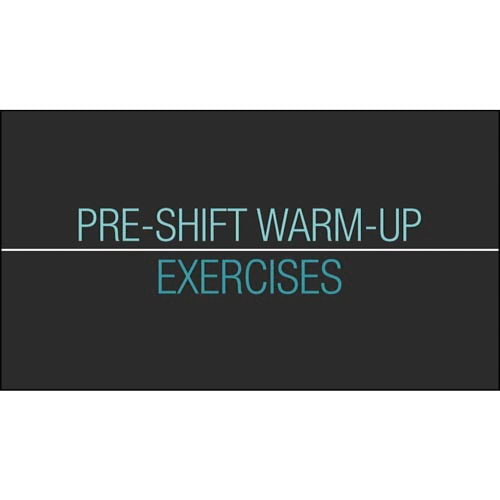 Back Safety: Pre-Shift Warm-Up Exercises - Streaming Video Training Program (014911)