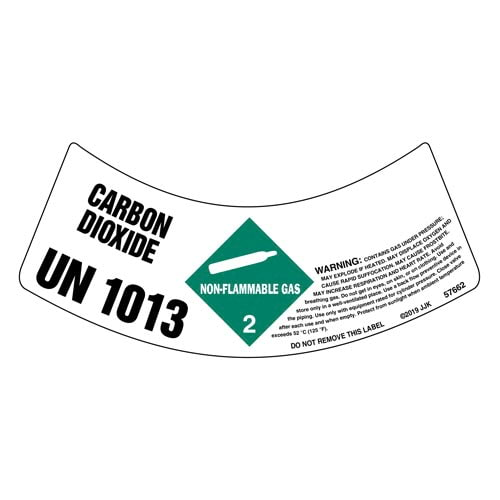 Gas Cylinder Shoulder Labels - Non-Flammable Gas (015048)