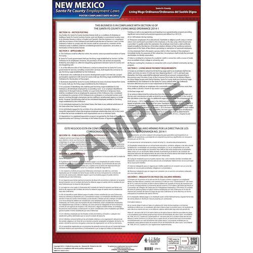 New Mexico / Santa Fe County Wage Poster (015056)