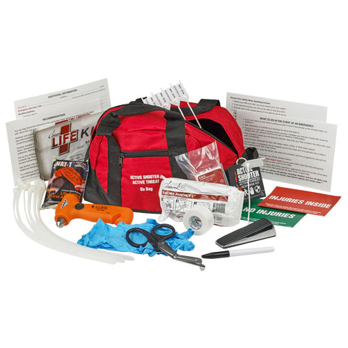 Active Shooter Go Bag Response Kit - Basic Tactical + First Aid (015113)