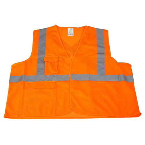 J. J. Keller™ SAFEGEAR™ Safety Vest Type R Class 2 - Hook & Loop Closure (015091)