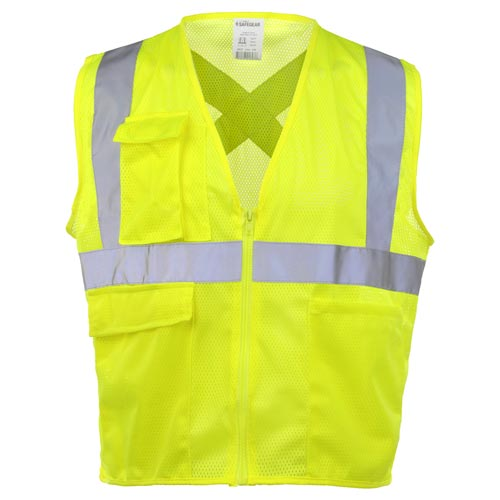 J. J. Keller™ SAFEGEAR™ Safety Vest Type R Class 2 - Zipper Closure (015092)