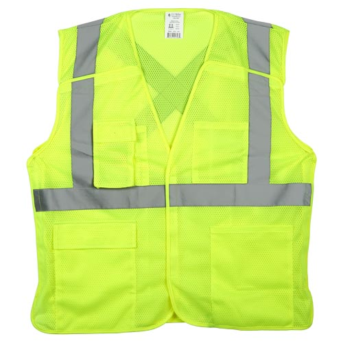 J. J. Keller™ SAFEGEAR™ Safety Vest Type R Class 2 - Hook & Loop 5-Point Breakaway Closure (015093)
