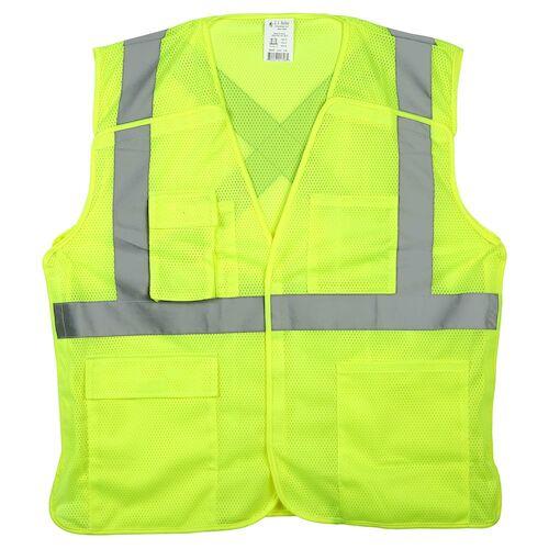 SAFEGEAR™ Safety Vest Type R Class 2 - Hook & Loop 5-Point Breakaway Closure (015093)