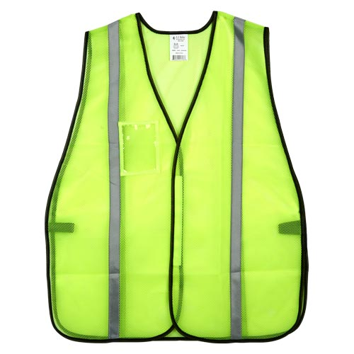 "J. J. Keller™ SAFEGEAR™ Non-Certified Safety Vest - Hook & Loop Closure with 1"" Silver Tape (015094)"