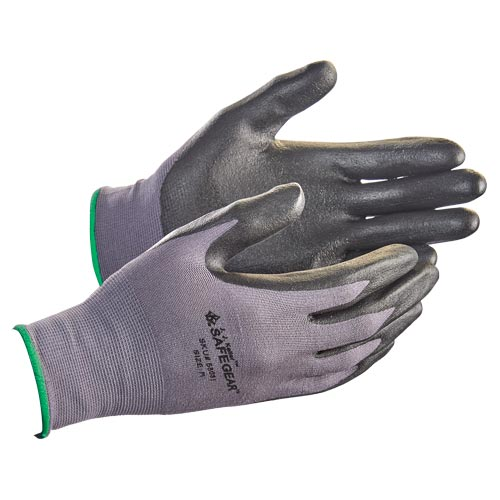 J. J. Keller™ SAFEGEAR™ Flat Dip Nitrile Foam Smooth-Palm Nylon Knit Gloves (015103)
