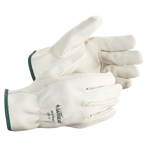 J. J. Keller™ SAFEGEAR™ Cowhide Leather Driver Gloves with Keystone Thumb (015105)