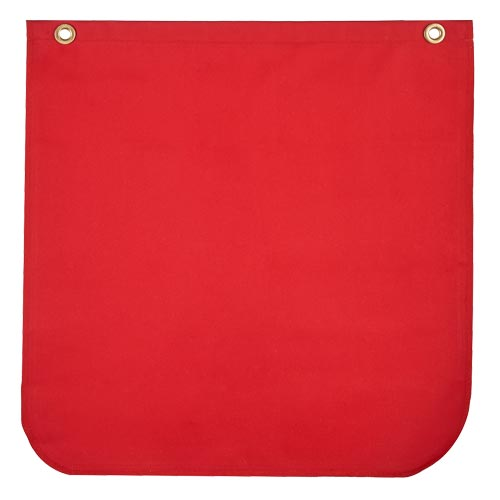 Warning Flag Red Solid Poly/Cotton Twill (015109)