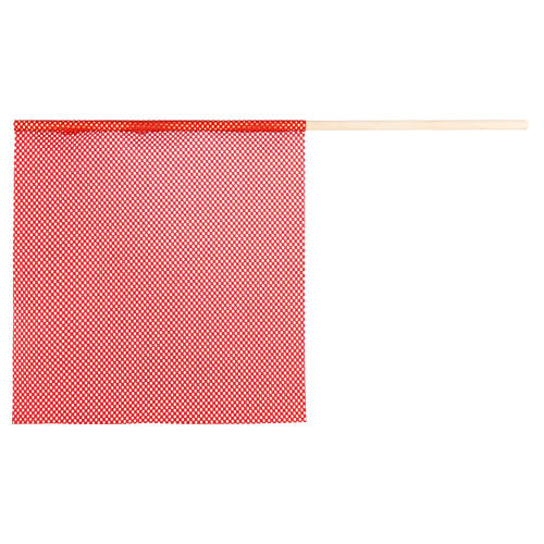 Warning Flag with Red Mesh Jersey (015110)