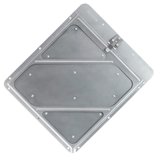 Rivetless Aluminum Placard Holder with Back Plate (02380)