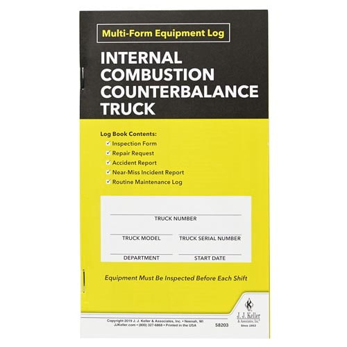 Internal Combustion Counterbalance Multiform Forklift Inspection Logbook (015174)