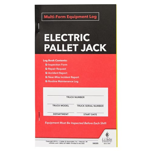 Electric Pallet Jack Multiform Inspection Logbook (015176)