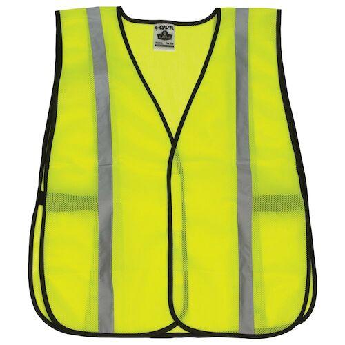 GloWear® Standard Mesh Safety Vest - Silver Reflective Stripes (06357)