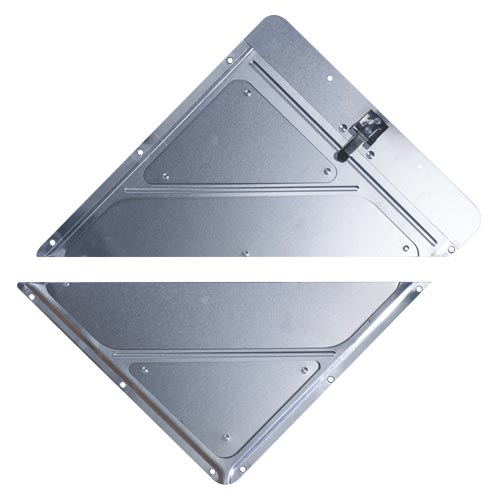 Rivetless Split Aluminum Placard Holder w/Back Plate (02382)
