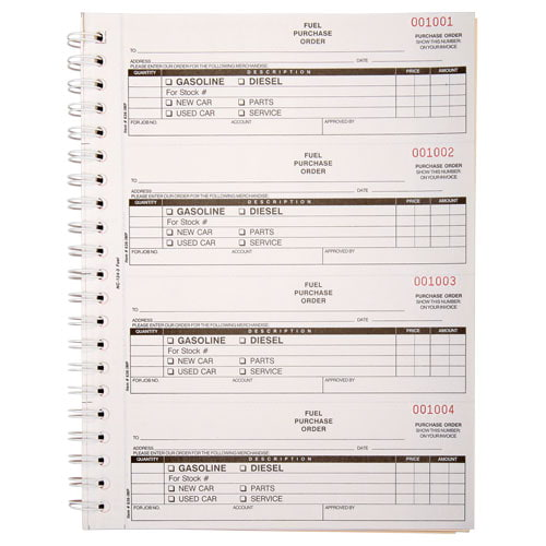 Fuel Purchase Order Book, Carbonless – Stock (015409)