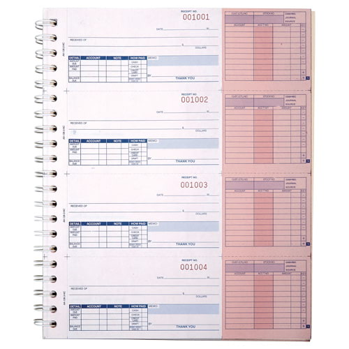 Cash Receipt with Journal Book, Carbonless – Stock (015410)