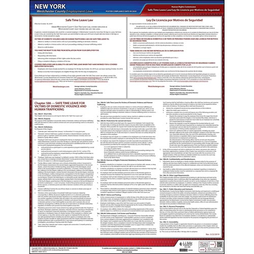 New York / Westchester County Earned Sick Leave Poster (015474)
