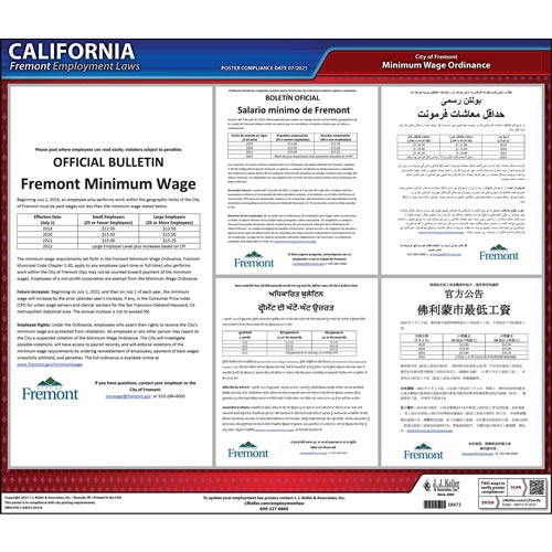 California / Fremont Minimum Wage Poster (015487)