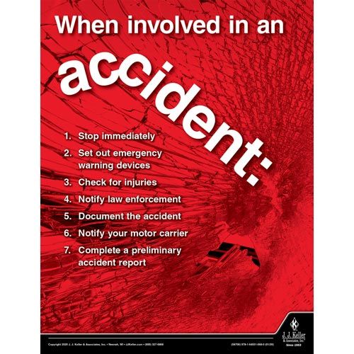 When Involved in an Accident - Driver Awareness Safety Poster (015678)