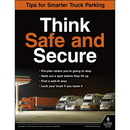 Think Safe and Secure - Motor Carrier Safety Poster (017066)