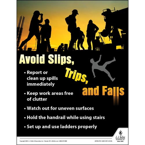 Always Check Your Fall Arrest Harness - Construction Safety Poster (017067)